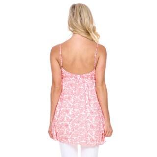 Stanzino Women's Paisley Print Sleeveless Tunic