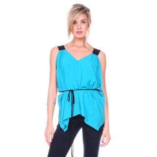 Stanzino Women's Sleeveless Batwing Blouse
