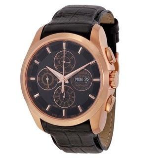 Tissot Men's T0356143605100 'Couturier Valjoux' Automatic Chronograph Black Leather Watch