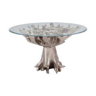 LS Dimond Home Champagne Teak Root Entry Table