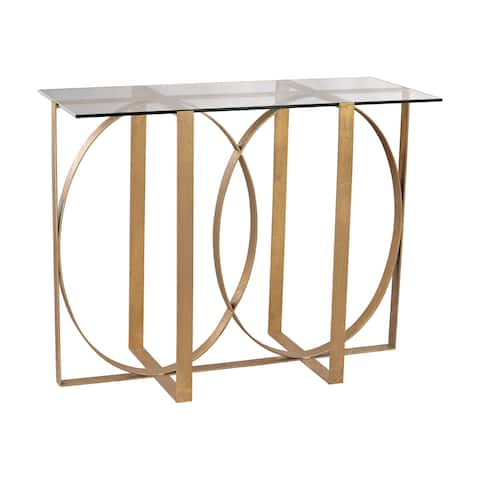 LS Dimond Home Box Rings Console Table