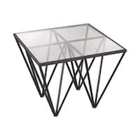 LS Dimond Home Geometric Side Table