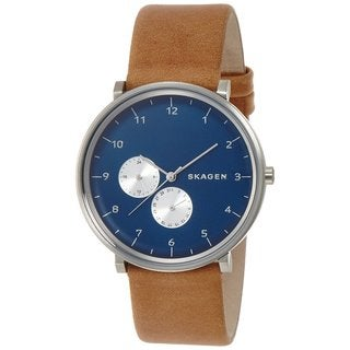 Skagen Men's SKW6167 'Hald' Chronograph Brown Leather Watch
