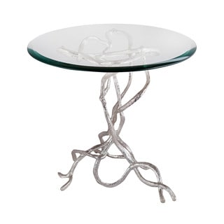 LS Dimond Home Woven Vines Side Table