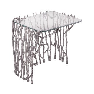 LS Dimond Home Silvered Sticks Side Table
