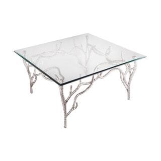 LS Dimond Home Metropolitan Polished Nickel Side Table
