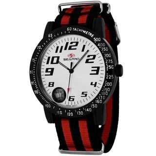Seapro Men's SP5110NR Raceway Round Two-tone Nylon Strap Watch
