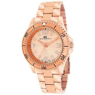 Oceanaut Women's OC9813 Camara Round Rose Gold-tone Stainless Steel Bracelet Watch