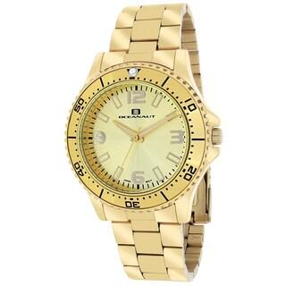 Oceanaut Women's OC9812 Camara Round Goldtone Stainless Steel Bracelet Watch
