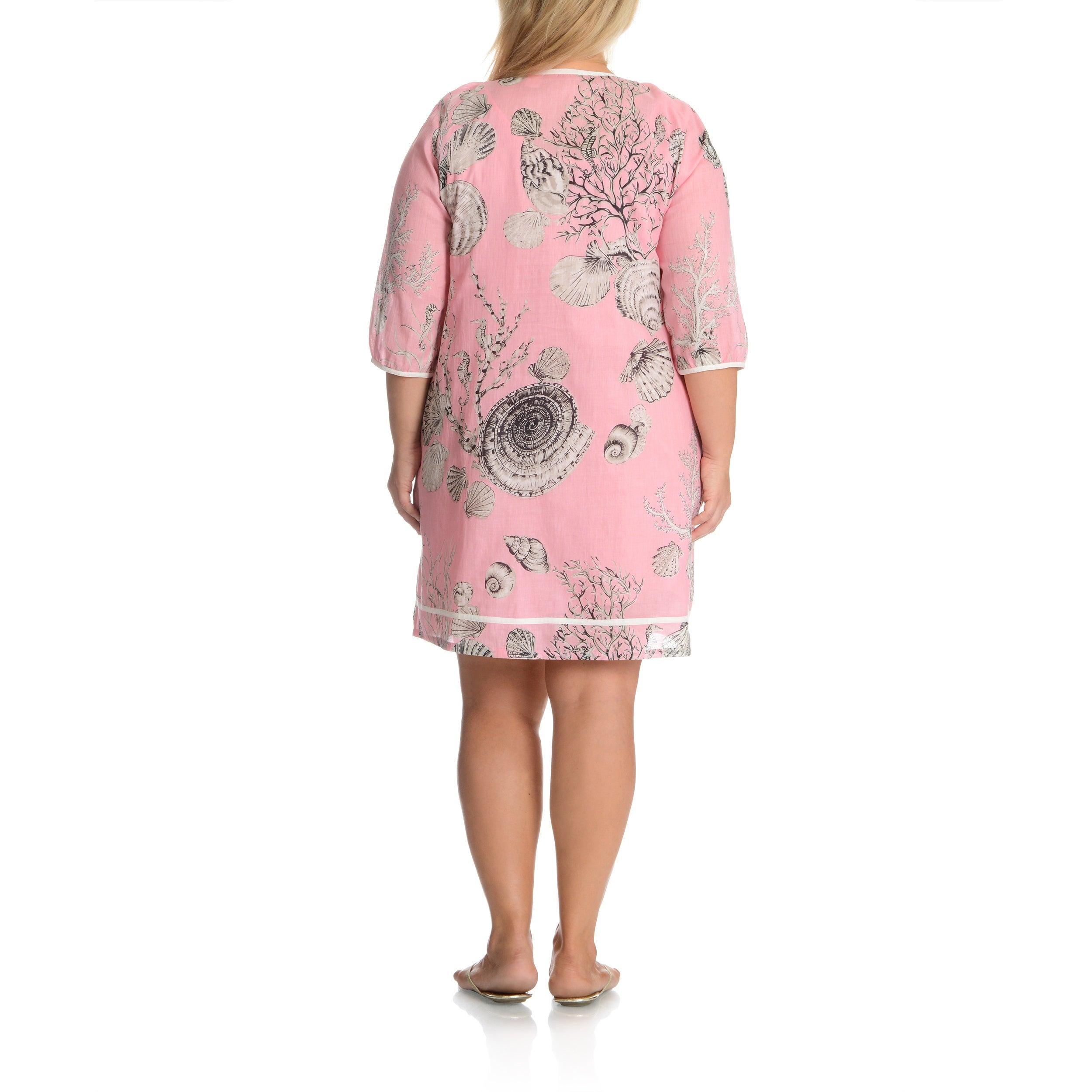 La Cera Women s Plus Size Printed Tunic Dress  e04eb8448