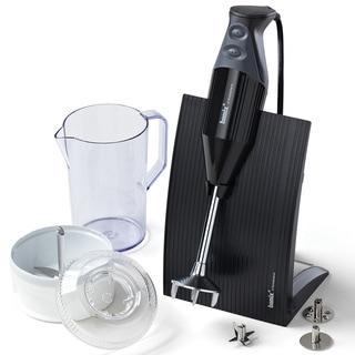 Bamix Swissline Immersion Blender and Processor- Black