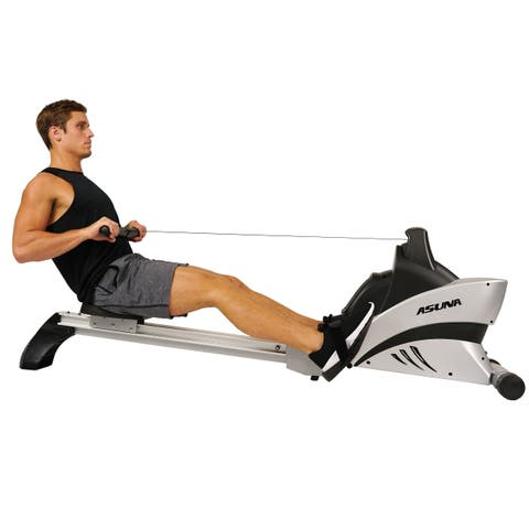 ASUNA 4500 Commercial Rowing Machine Rower Heart Rate Monitor - Silver
