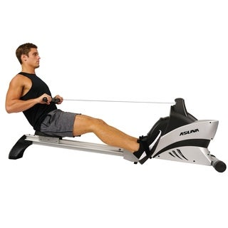 ASUNA 4500 Commercial Folding Rowing Machine Rower with Heart Rate Monitor - Silver