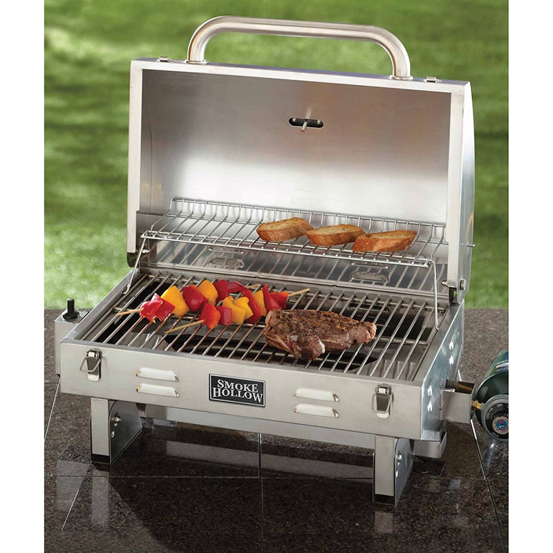 Aussie Smoke Hollow 205 Stainless Steel Tabletop Grill (W...