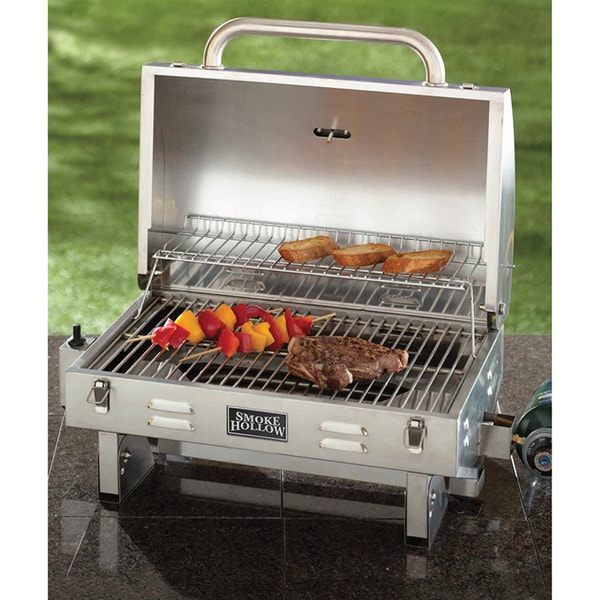 Smoke Hollow 205 Stainless Steel Tabletop Grill - Free Shipping ...