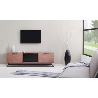 B-Modern Animator Light Walnut/ Black Modern IR TV Stand