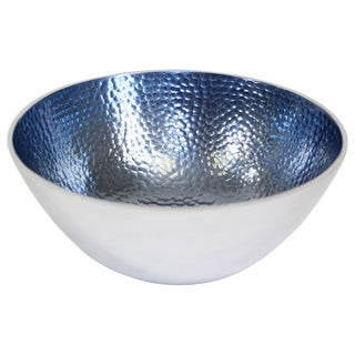 Pampa Bay Round Hammered Aluminum Blue Bowls (Set of 3)