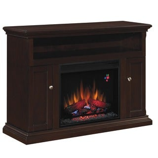 Cannes 23-inch Classic Flame Indoor Fireplace Media Mantel in Expresso Finish