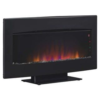 ClassicFlame 34HF600GRA Serendipity 34-inch Wall Mounted Electric Fireplace with Textured Black Frame