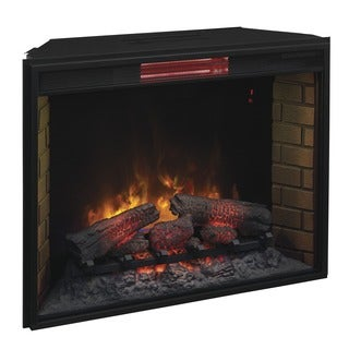 Traditional Infrared 33-inch Fireplace Insert with Remote