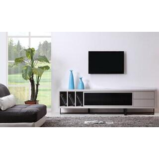 B-Modern Innovator Cream/ Black Modern IR TV Stand