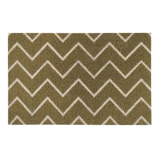 First Impression PVC Tufted 'Chevron' Coir Doormat