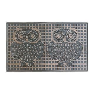 Rubber Pin 'Twin Owls' Doormat