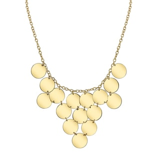 Unique Gold Colored Geometric Ladies' Necklace