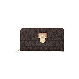 MICHAEL Michael Kors Hamilton Brown Signature Continental Wallet