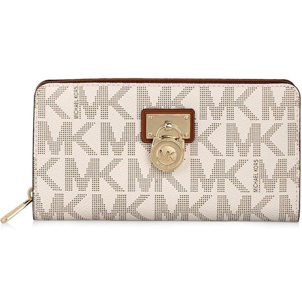 5a2142dce1e0da Shop Michael Kors Hamilton Vanilla Signature Continental Wallet ...