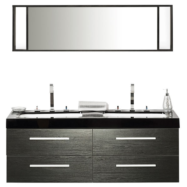 velago modern bathroom vanity with sink cabinets and mirrors
