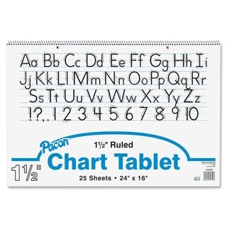 Pacon Ruled Manuscript Chart Tablets - 1/EA