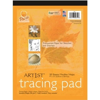 """Pacon Art1st Tracing Pad, 9"""" x 12"""", 50 Sheets - 1/PD"""