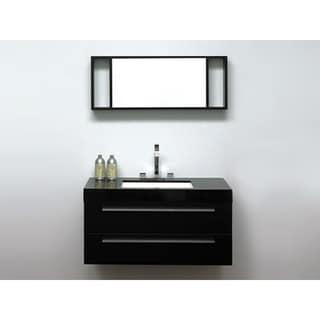 Modern Barcelona Black Bathroom Vanity with Sink Cabinet and