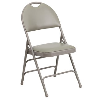 Holly Grey Folding Chairs with Handle Grip
