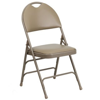 Holly Beige Folding Chairs with Handle Grip