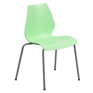 Iris Green Contoured Modern Design Stack Chairs