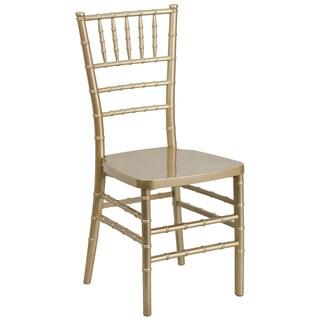 Plaza Resin Ball Room Gold Chiavari Chairs