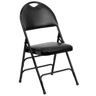 Holly Black Folding Chairs with Handle Grip