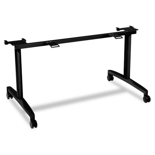HON Huddle Black Flip-Top Base for 24 inch Deep Table Tops