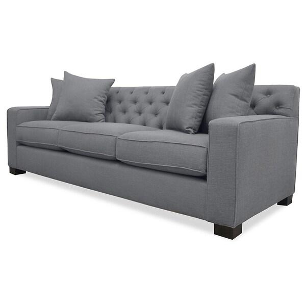 Cassandra Tufted Premium Linen Wrapped Sofa Free