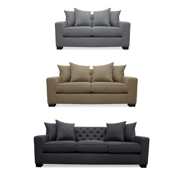 Cassandra Tufted Premium Linen Wrapped Sofa   Free Shipping Today    Overstock.com   17448650