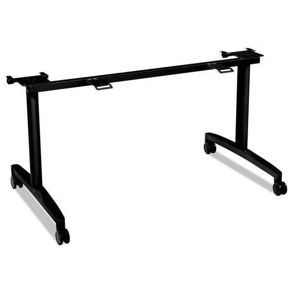 HON Huddle Black Flip-Top Base for 30 inch Deep Table Tops