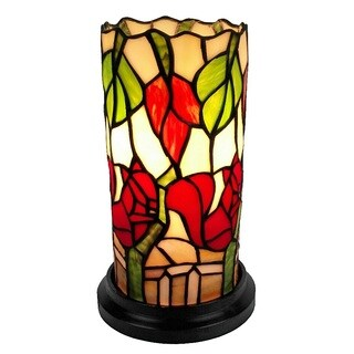 Amora Lighting Tiffany Style Floral Design Table Lamp
