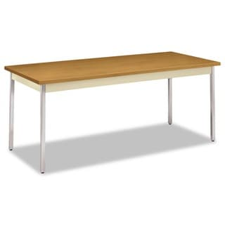 HON Harvest/Putty Rectangular Utility Table