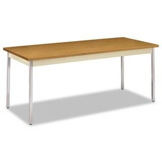 HON Harvest/Putty Rectangular Utility Table - N/A