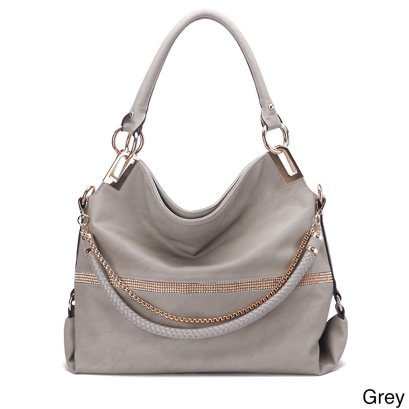 MKF Collection Twister Handbag by Mia K. Farrow (Grey), W...