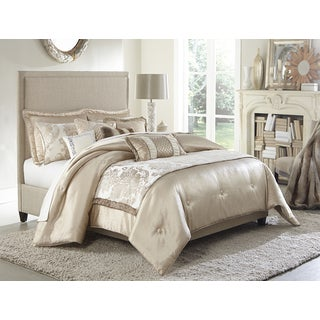 Michael Amini Palermo 10 piece Comforter SetBombay Bedding Cortina Ivory Comforter Set   Free Shipping Today  . Cortina Bedroom Set. Home Design Ideas