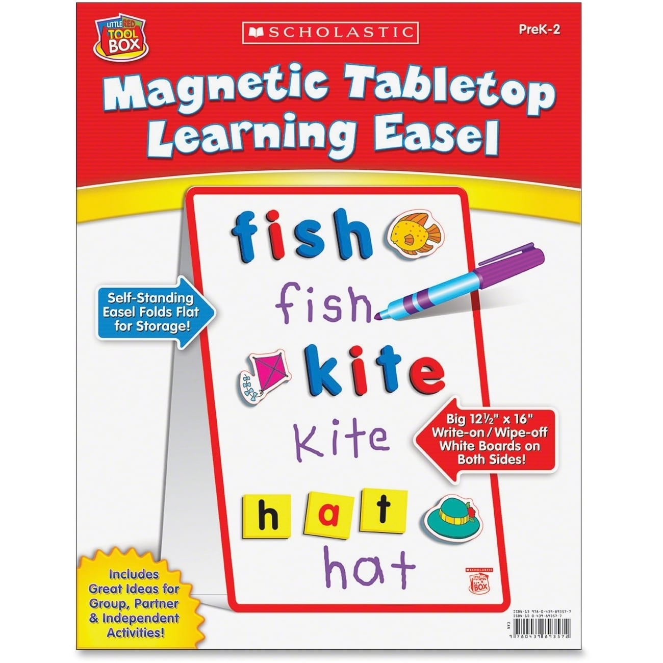 Scholastic Magnetic Tabletop Learning Easel - 1/EA (Master), Multi