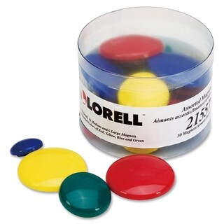 Lorell Tub of 30 Assorted Magnets